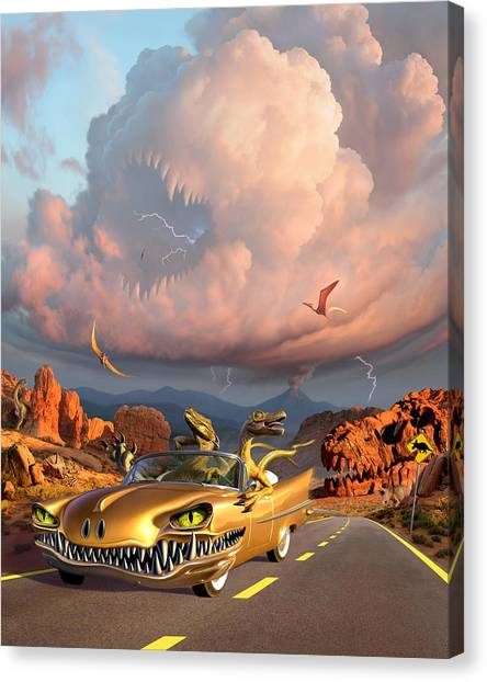 Teeth Canvas Print - Rapt Patrol by Jerry LoFaro