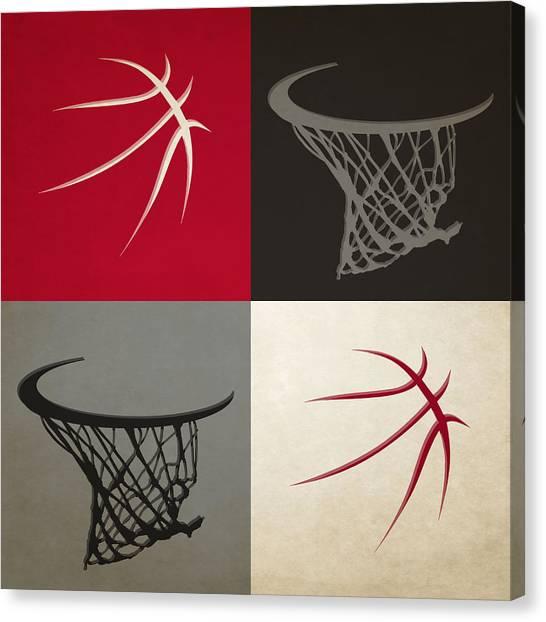 Toronto Raptors Canvas Print - Raptors Ball And Hoop by Joe Hamilton
