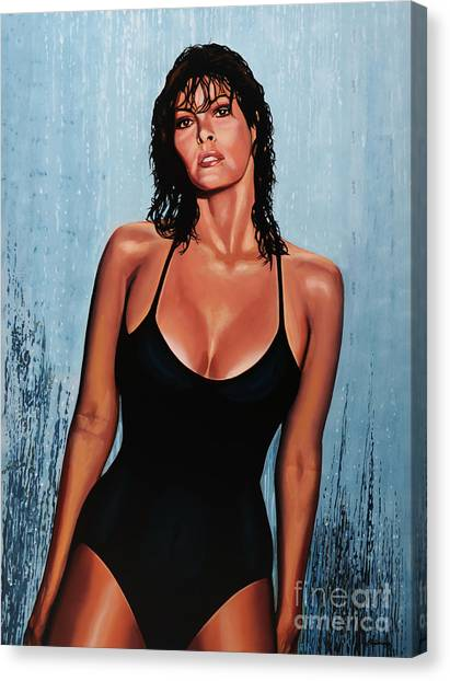 Rifles Canvas Print - Raquel Welch by Paul Meijering