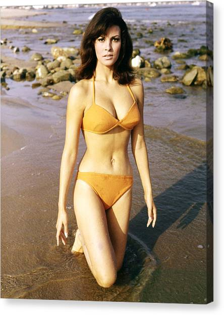 Bikini Canvas Print - Raquel Welch by Silver Screen
