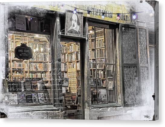 Rare Books Latin Quarter Paris France Canvas Print