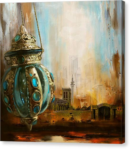 Islamic Art Canvas Print - Ras Al Khaimah by Corporate Art Task Force