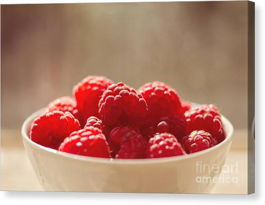 Raspberries Canvas Print - Raspberries  by Diana Kraleva