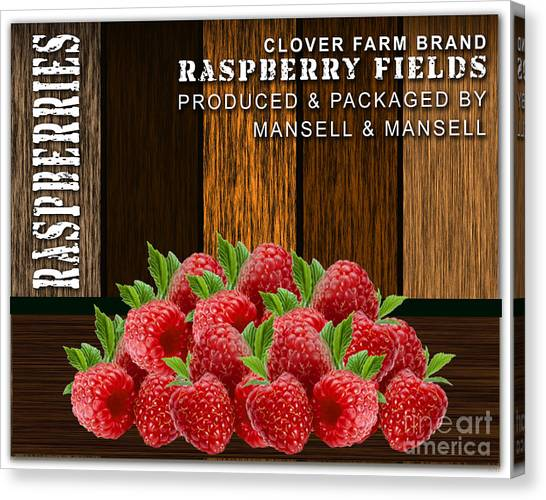 Raspberry Canvas Print - Raspberry Fields Forever by Marvin Blaine