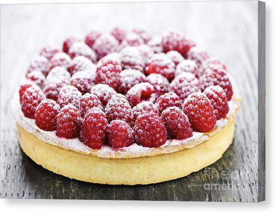 Raspberry Canvas Print - Raspberry Tart by Elena Elisseeva