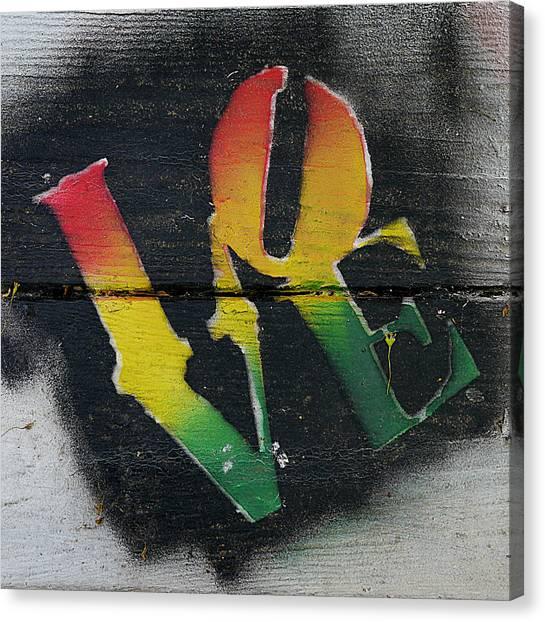 Rasta Love Canvas Print