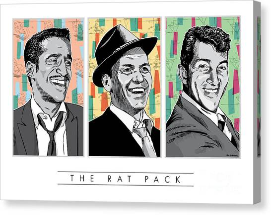 Rat Pack Pop Art Canvas Print