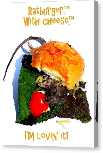 Ratburger With Cheese Canvas Print