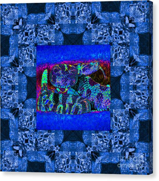 Poisonous Snakes Canvas Print - Rattlesnake Abstract Window 20130204m180 by Wingsdomain Art and Photography