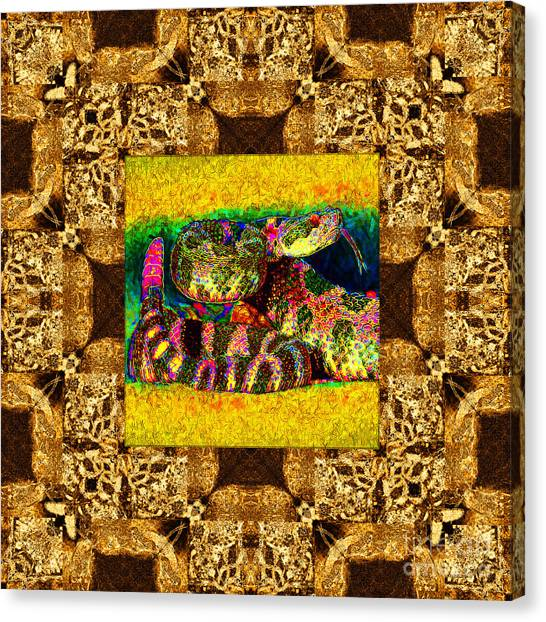 Poisonous Snakes Canvas Print - Rattlesnake Abstract Window 20130204p0 by Wingsdomain Art and Photography