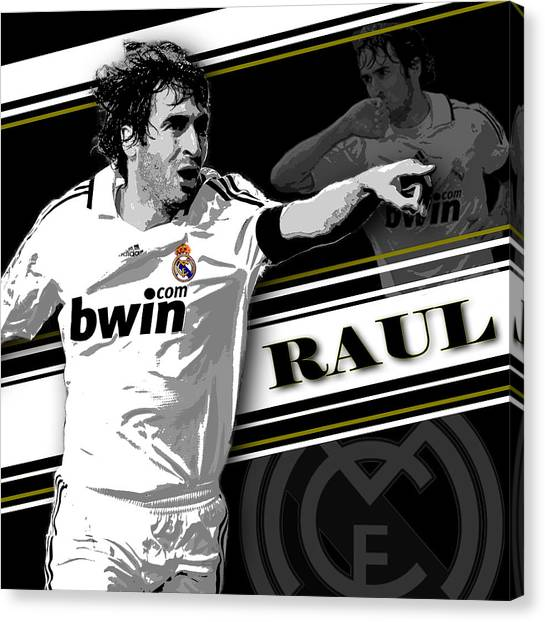 Real Madrid Canvas Print - Raul Real Madrid Print by Pro Prints