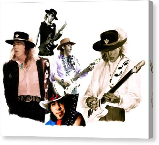 Rave On  Stevie Ray Vaughan Canvas Print