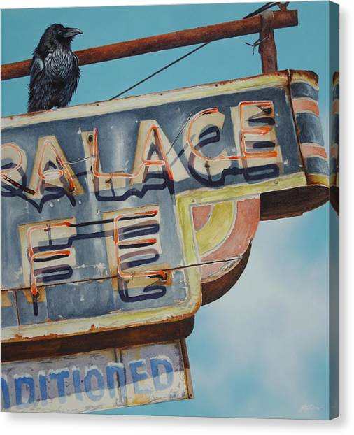Raven And Palace Canvas Print