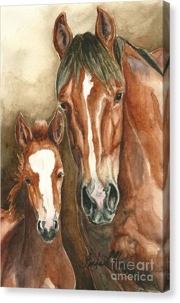 Lark And Robin Of Sand Wash Basin Canvas Print