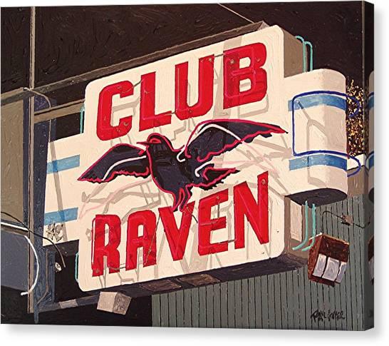 Raven Club Canvas Print by Paul Guyer