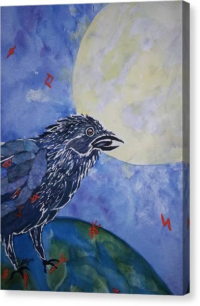 Raven Speak Canvas Print