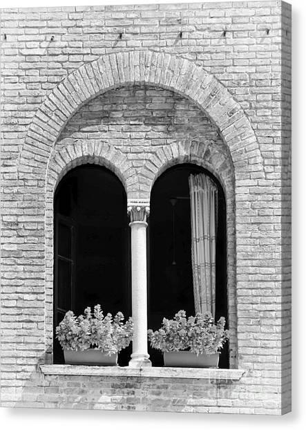 Ravenna Window Mono Canvas Print
