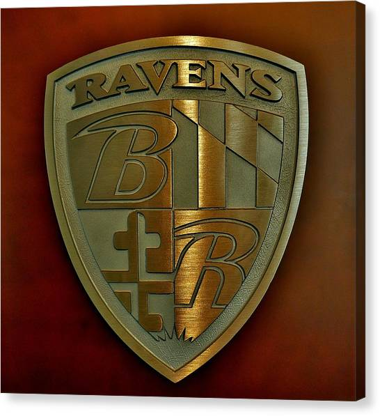 Ravens Coat Of Arms Canvas Print