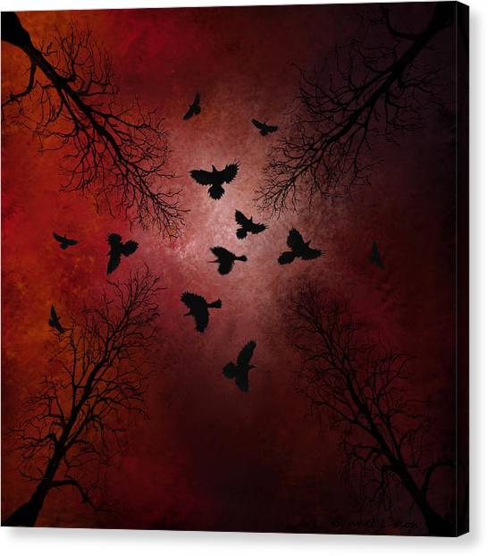 Ravens In The Sky Canvas Print