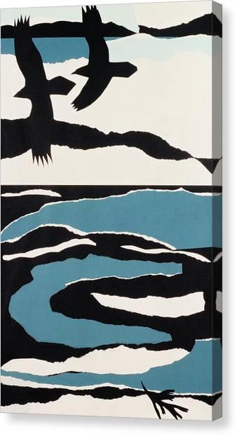 Representation Canvas Print - Ravens by John Wallington