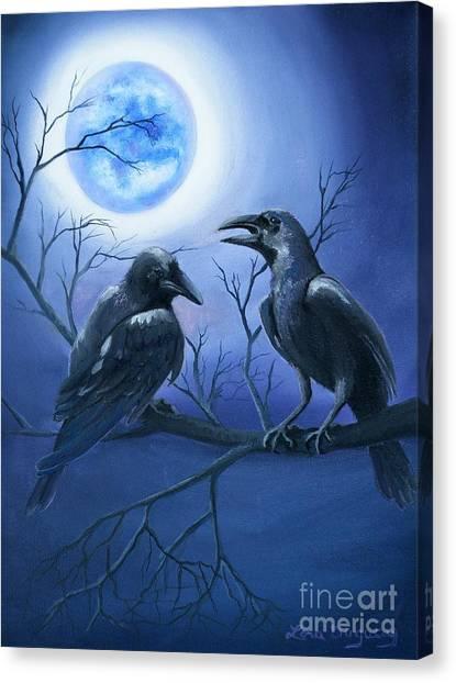 Raven's Moon Canvas Print