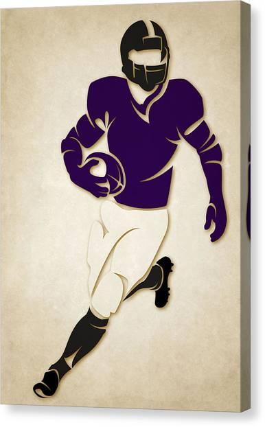 Baltimore Ravens Canvas Print - Ravens Shadow Player by Joe Hamilton