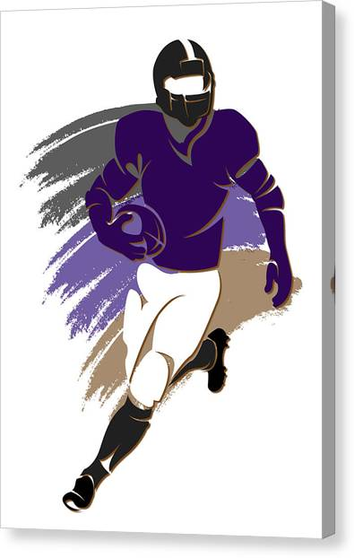 Baltimore Ravens Canvas Print - Ravens Shadow Player2 by Joe Hamilton