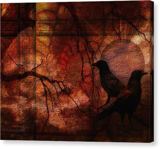 Ravens World Edited Canvas Print