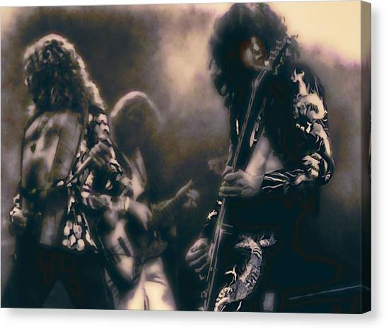 Robert Plant Canvas Print - Raw Energy Of Led Zeppelin by Daniel Hagerman