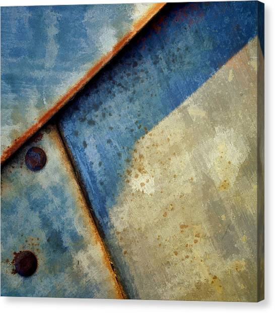 Raw Steel...blue Canvas Print