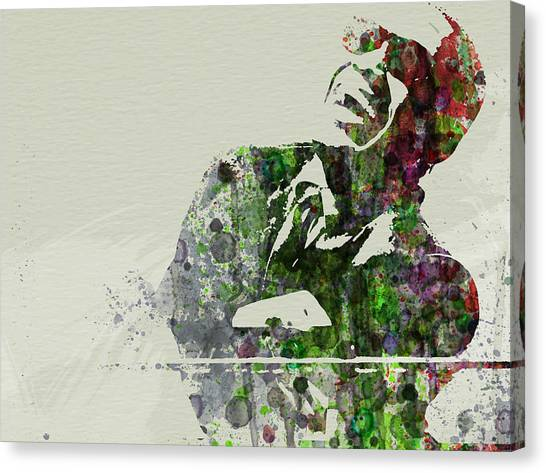 Saxophone Canvas Print - Ray Charles by Naxart Studio