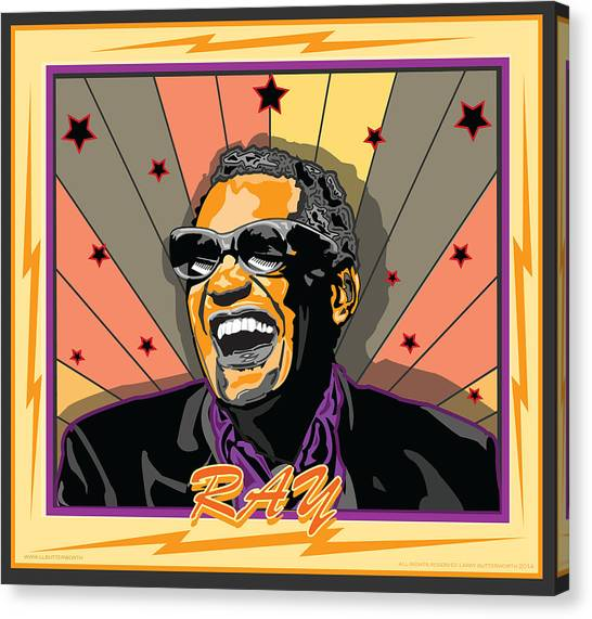 Ray Charles Canvas Print by Larry Butterworth