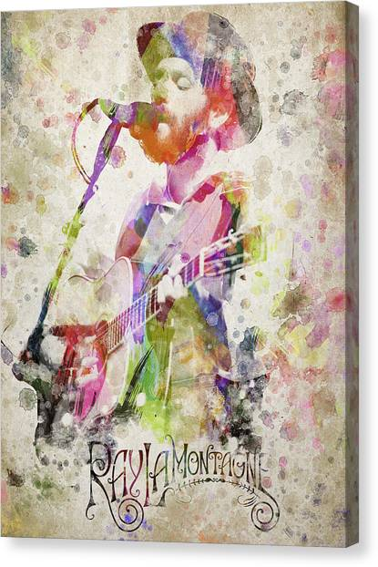 Harmonicas Canvas Print - Ray Lamontagne Portrait by Aged Pixel