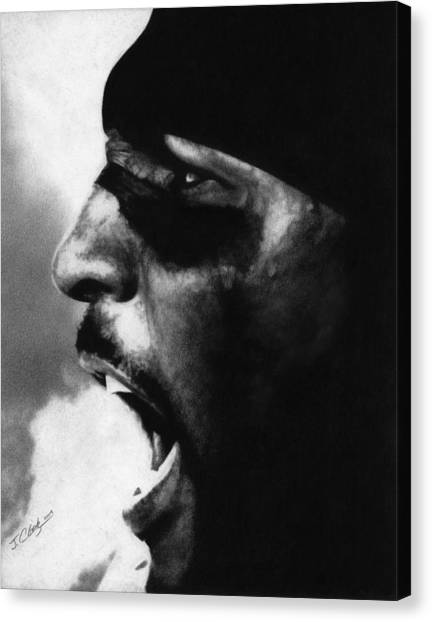 Football Canvas Print - Ray Lewis by Justin Clark