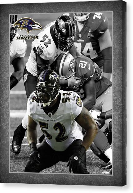 Baltimore Ravens Canvas Print - Ray Lewis Ravens by Joe Hamilton