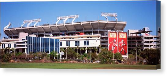 Tampa Bay Buccaneers Canvas Print - Raymond James Stadium Home Of Tampa Bay by Panoramic Images