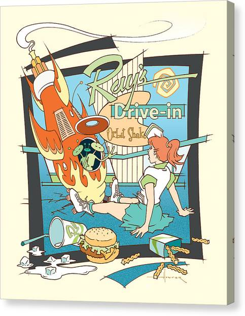 Ray's Drive-in - Redhead Canvas Print