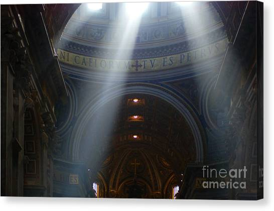 Rays Of Hope St. Peter's Basillica Italy  Canvas Print