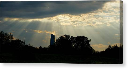 Rays Of Hope In Oklahoma Canvas Print