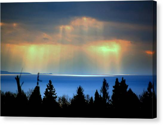 Rays Of Light Canvas Print