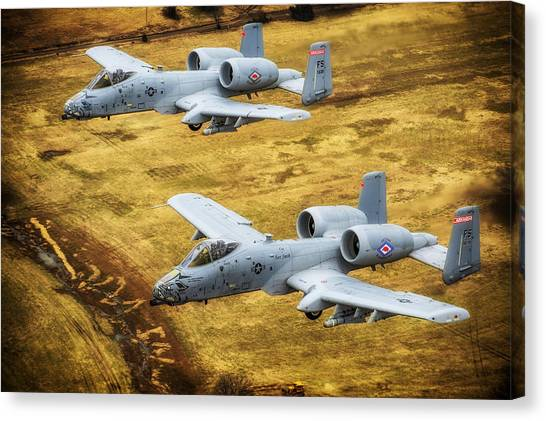 National Guard Canvas Print - Razorback Warthogs by Mountain Dreams