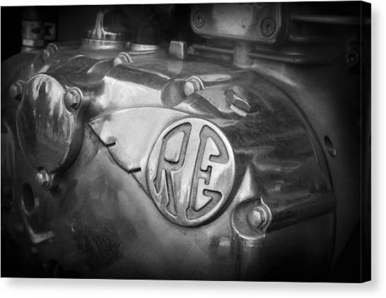 Canvas Print featuring the photograph Re Royal Enfield by Kelly Hazel