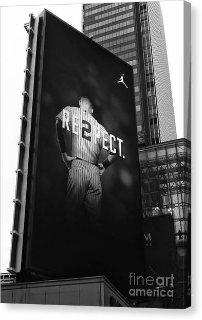Derek Jeter Canvas Print - Re2pect Billboard by John Rizzuto