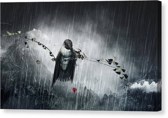Large Birds Canvas Print - Reach 2014 by Cameron Gray