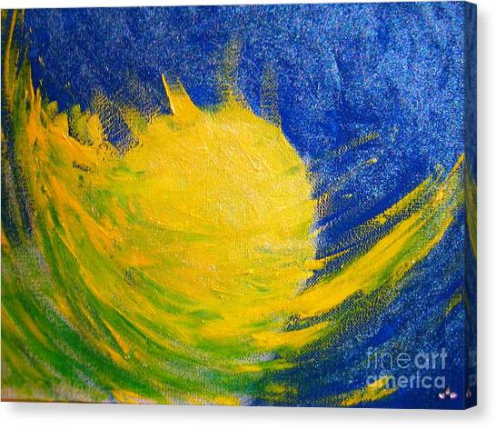 Canvas Print featuring the painting Reach For The Moon by Ilona Svetluska