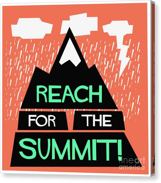 Decoration Canvas Print - Reach For The Summit Flat Style Vector by Orange Vectors