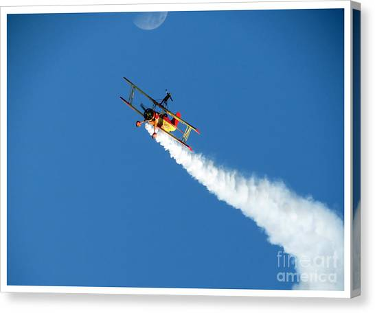 Reaching For The Moon. Oshkosh 2012. Postcard Border. Canvas Print