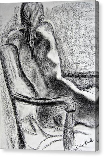 Black And White Canvas Print - Reaching Out by Kendall Kessler