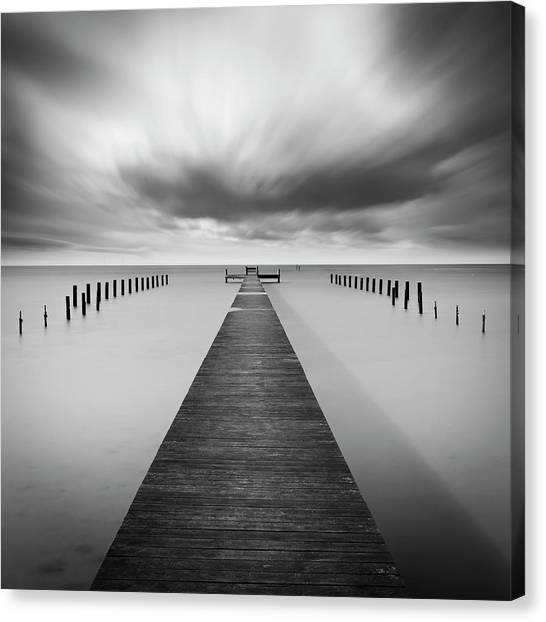 Pier Canvas Print - Reaching Out by Mats Reslow
