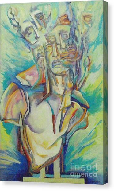 Reaching The Breaking Point 3 Canvas Print by Eva Berman